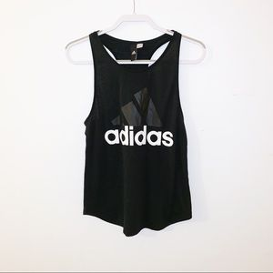 Adidas black workout tank size small